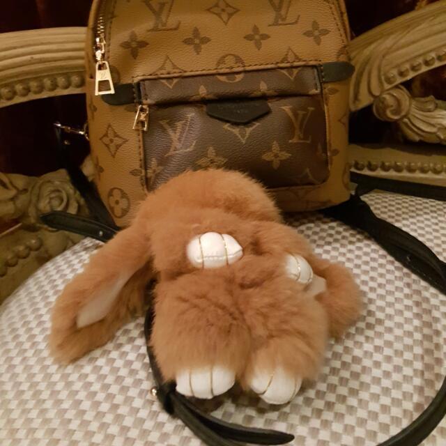 韓國 裝死兔 全新 有盒 杏褐色