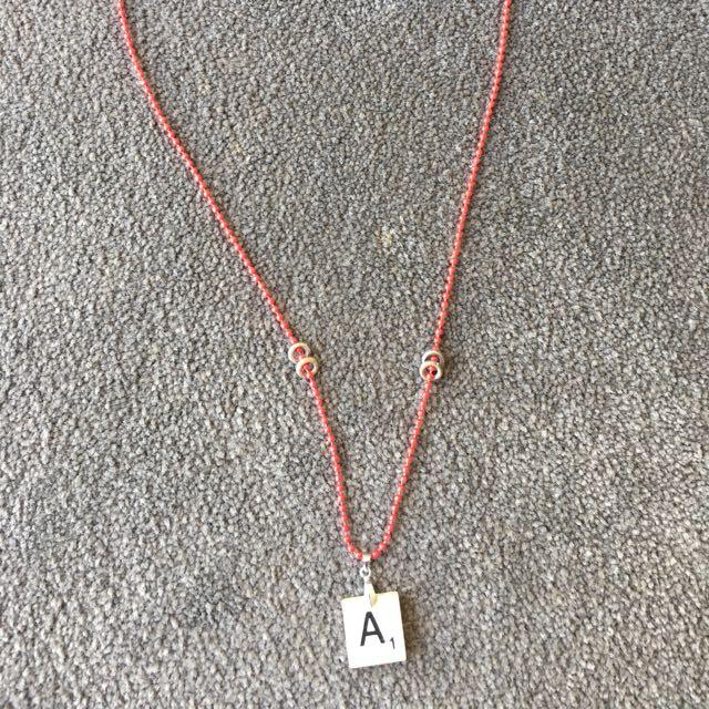 A Scrabble Necklace