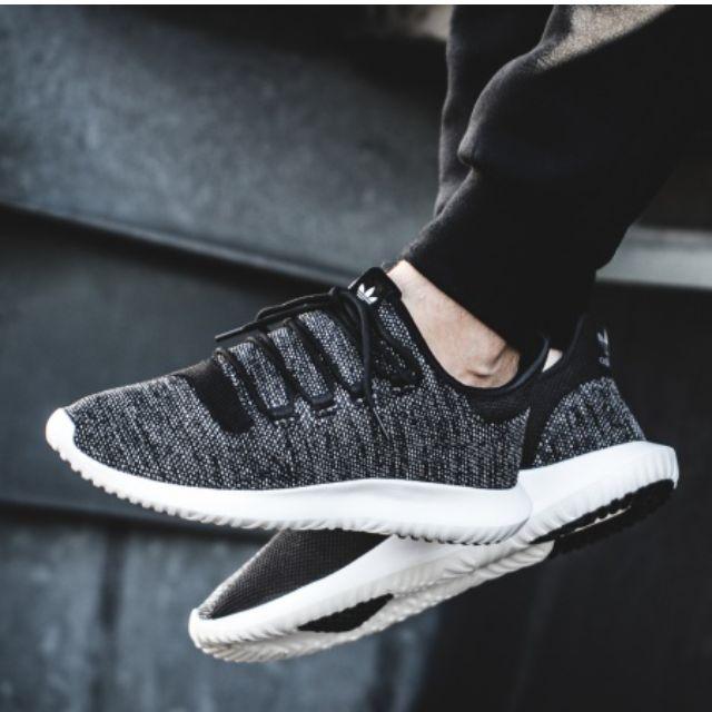 adidas tubulare maglia nero / bianco ombra, moda maschile, calzature in