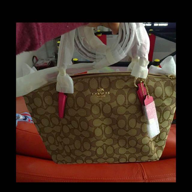 AUTHENTIC COACH BAG/khaki (small)