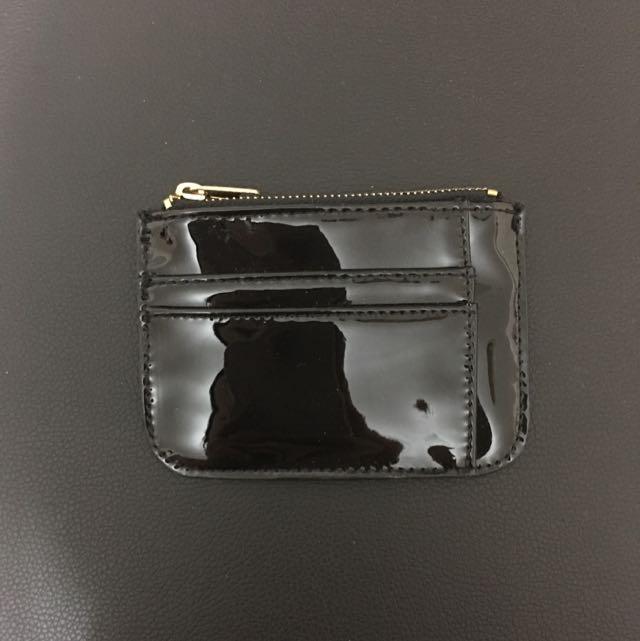 Black Patent Cardholder