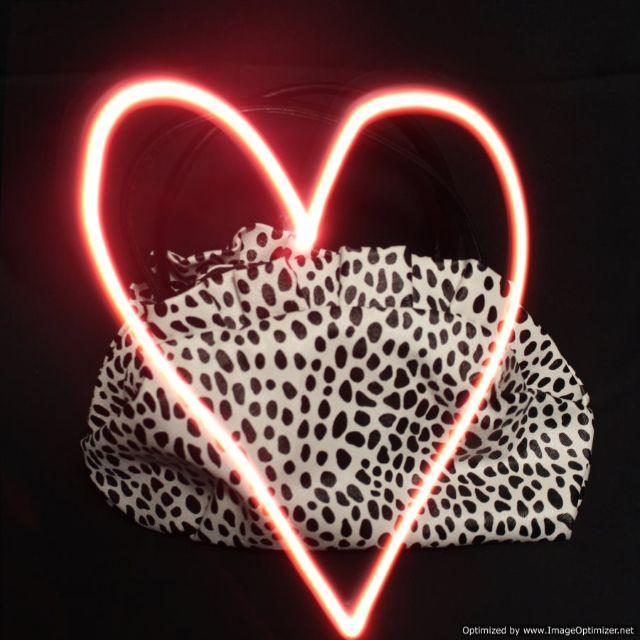 Black White Leopard Print Mini Hand Bag Purse