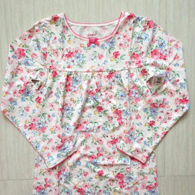 BNWT Cath Kidston Posy Flowers Kids Jersey Nightie (Ivory), 9-10 Yr