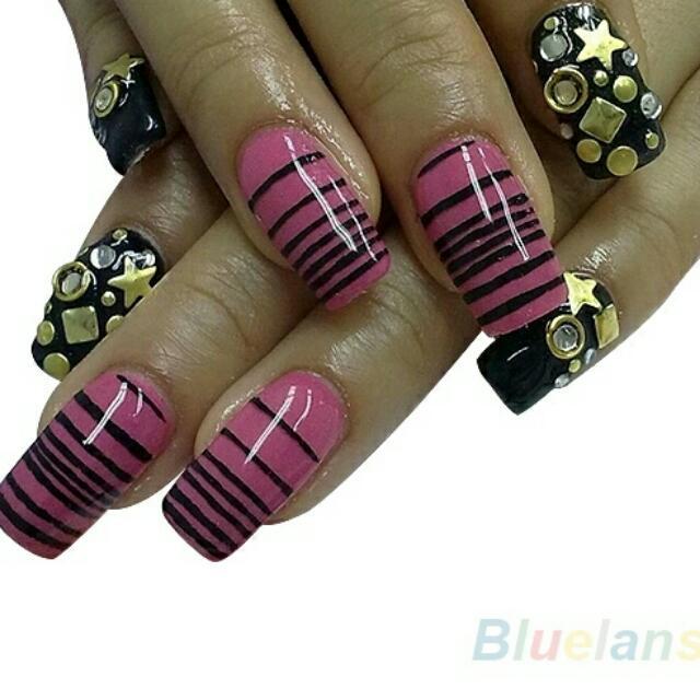Brand New Designer 1000pcs 3D Design Nail Art Decoration Stickers ...