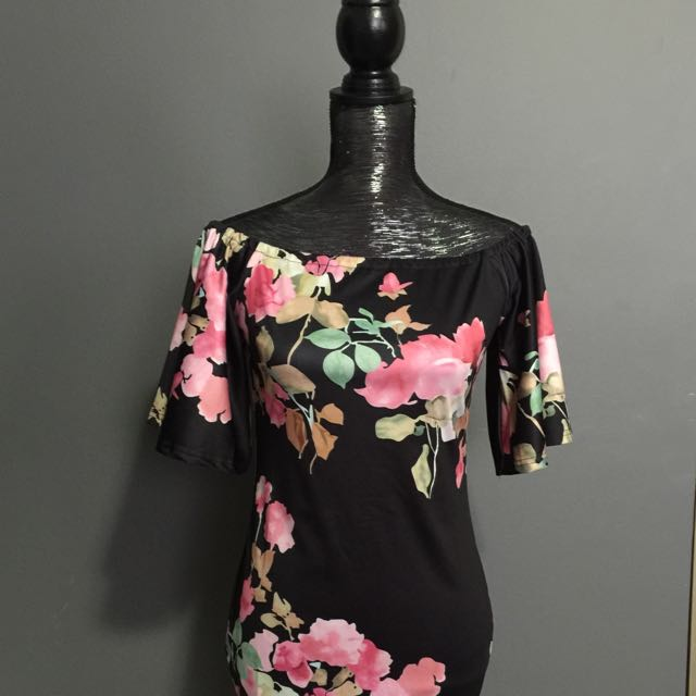 Brand New Floral Off The Shoulder Dress