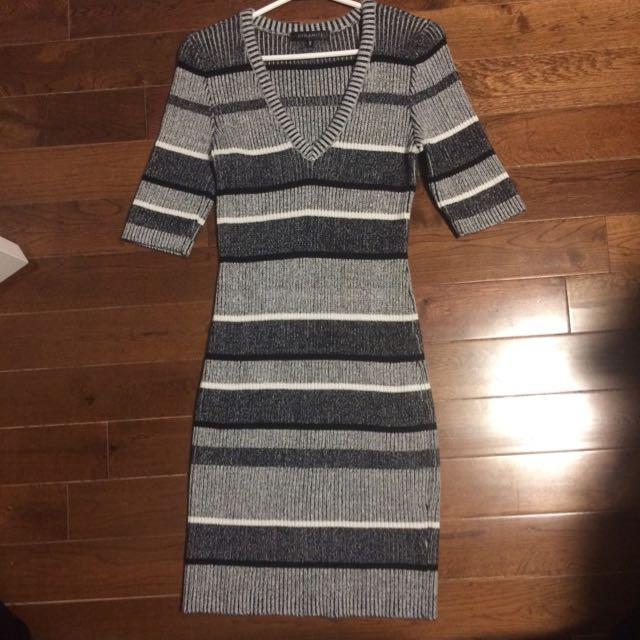 Brand New Grey Dress Sweater Dress