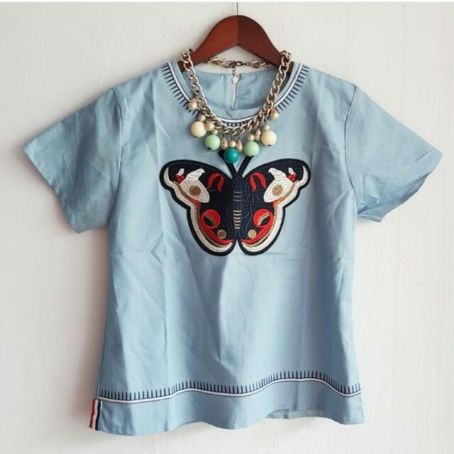 Butterfly Jeans Top