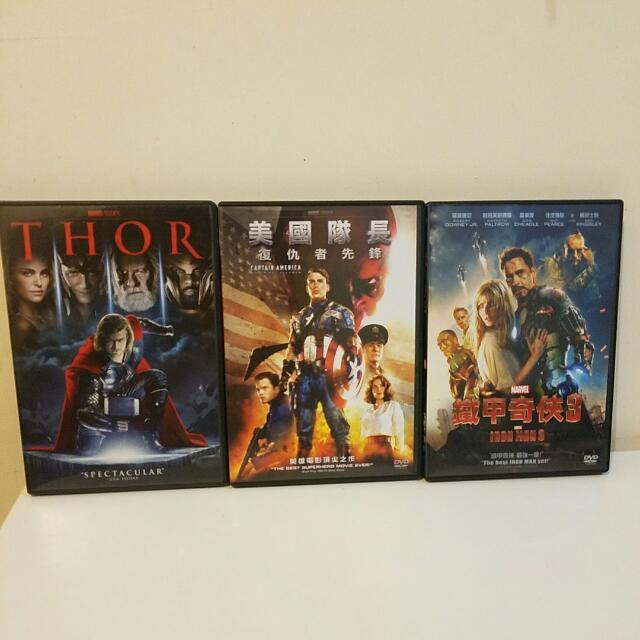 Captain America The First Avenger/Ironman 3/Thor DVD English And Chinese