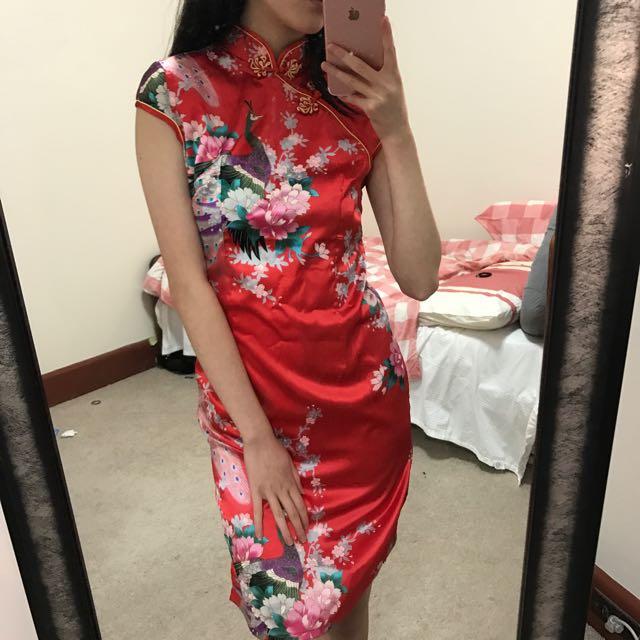 Chinese oriental Silk Dress