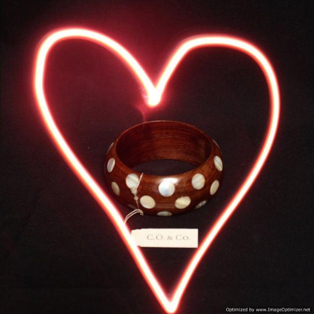 C.O. & CO Wooden Sea Shell Polka Dot Bracelet