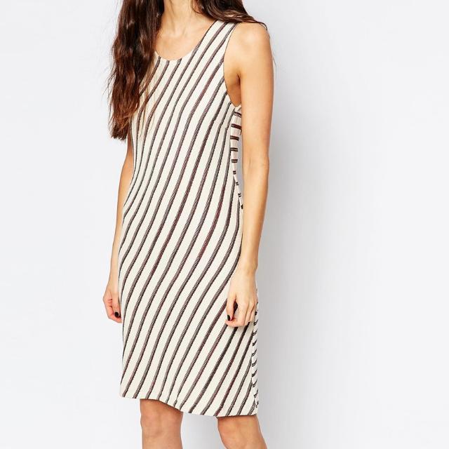 ASOS Contrast Striped Knit Dress