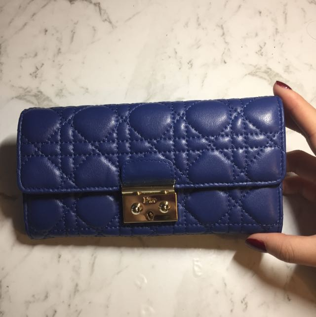 Dior Inspired Blue Wallet