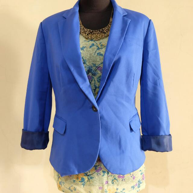 Electric Blue Blazer with Inner