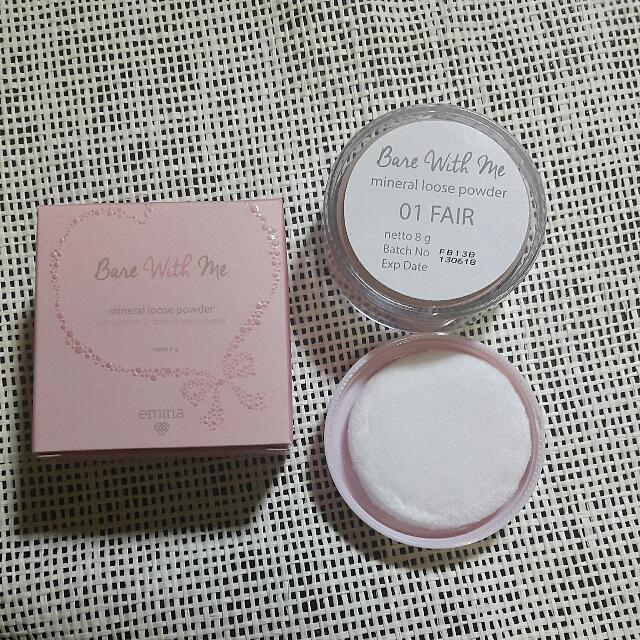 01 Fair. Source · Emina Bare With Me Mineral Loose Powder . Source · Bagikan