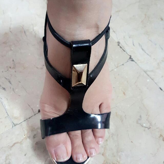 "E.PSE 4"" black formal high heels"