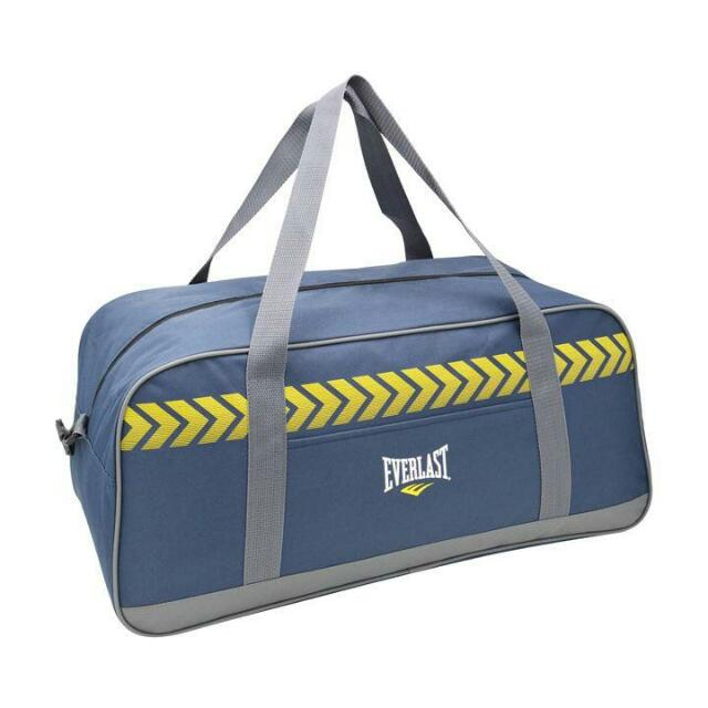 EVERLAST Duffle Holdall Bag BNWT Navy/grey