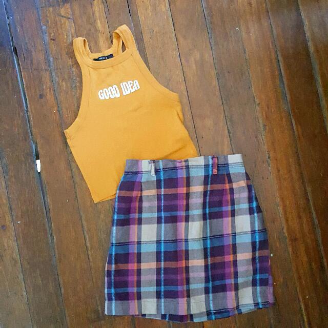 F21 Top + Plain Skirt For 450 only ❤