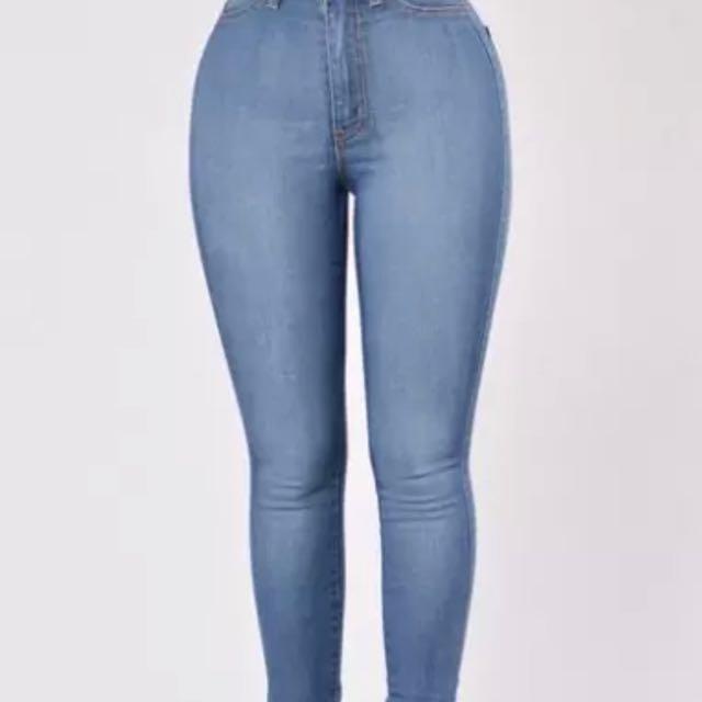 Fashion Nova Blue High Waisted Jeans