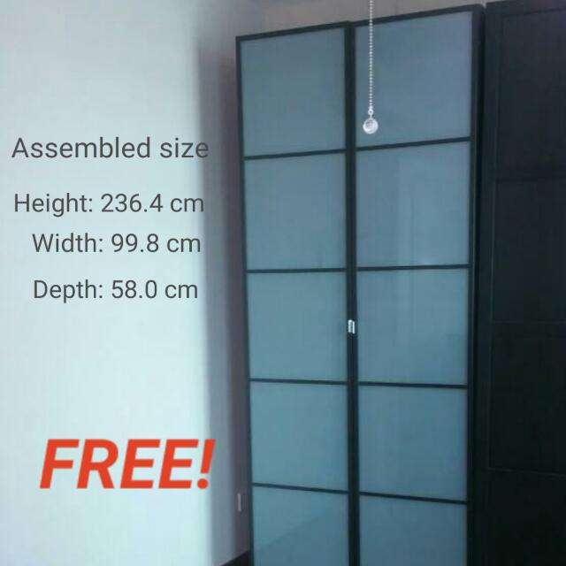 reputable site 4231d f5900 COLLECTED- Ikea Pax Wardrobe with hinged Fevik frosted glass ...