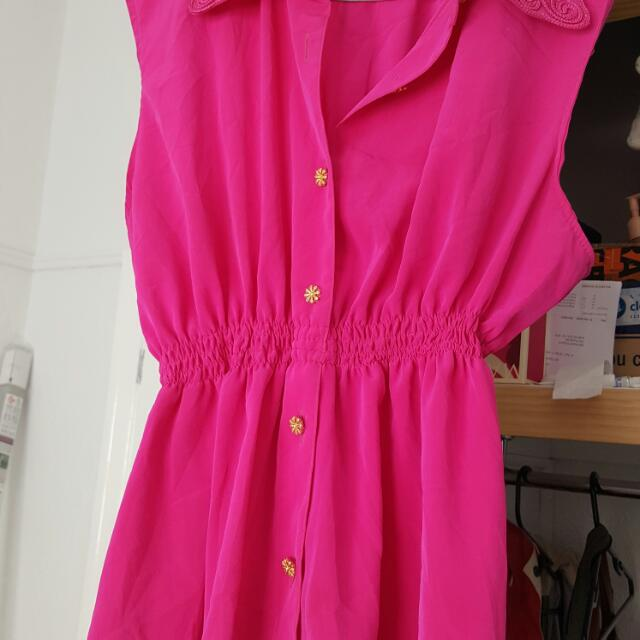 Hot Pink Top Size 10-12
