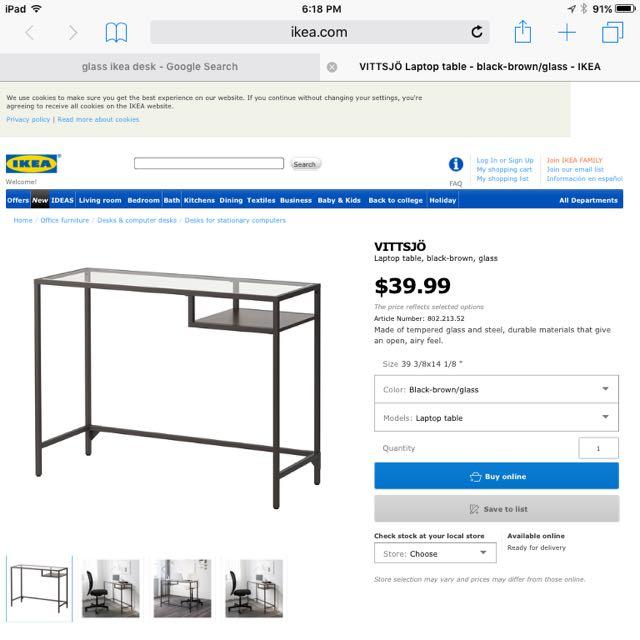 Ikea Desk $25 Assembled