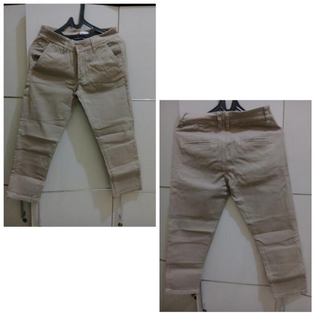 Jeans 3/4, Bahan Tebal, Good Condition