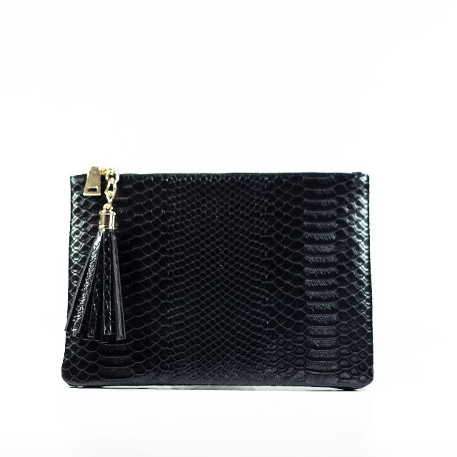 Legra Agatha Black Clutch (Bag, tas, clutch, dompet, portable, simple, casual)
