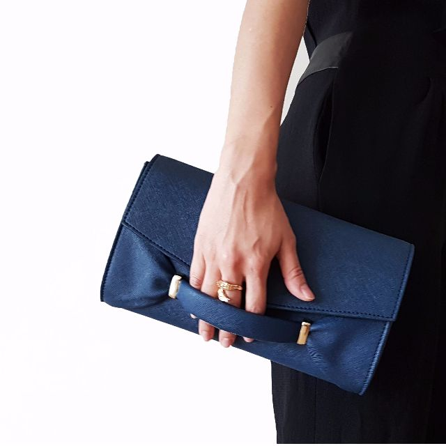 Legra Audrey Navy Clutch (Tas, Bag, Clutch, navy, biru, pesta, casual)