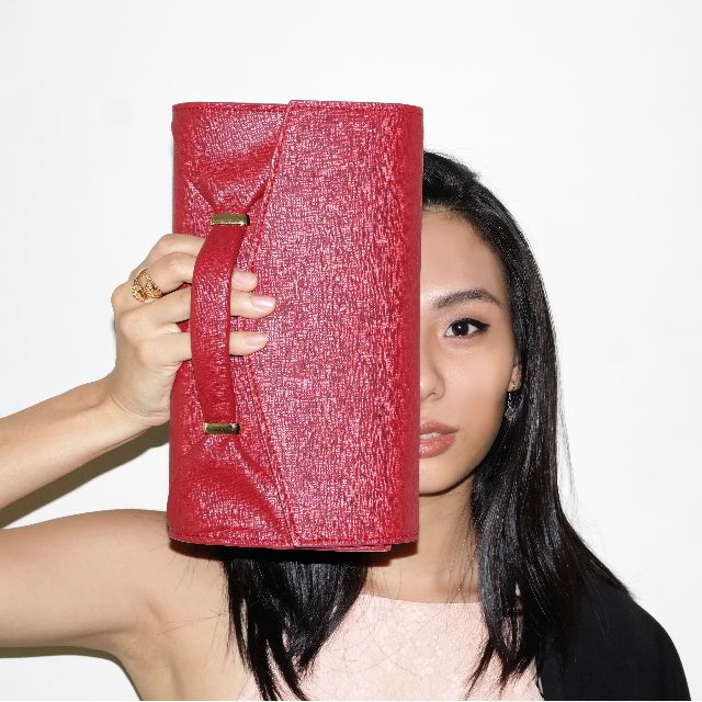 Legra Audrey Ruby Clutch (Tas, Bag, Clutch, navy, merah, pesta, casual)