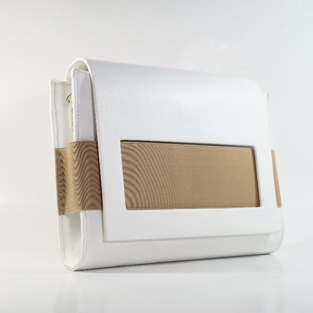 Legra Clara White Clutch (Clutch, tas, tas pesta, bag)