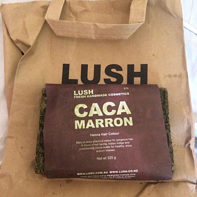 Lush Caca Marron Henna Hair Dye Health Beauty Hair Care
