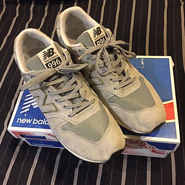 NB New Balance 996 灰色 金邊 慢跑鞋