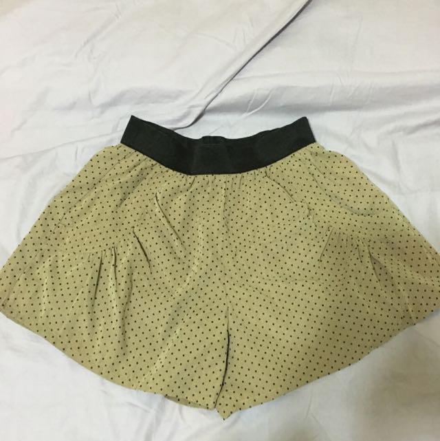 Net卡其色點點褲裙