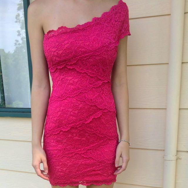 Off The Shoulder Pink Dress