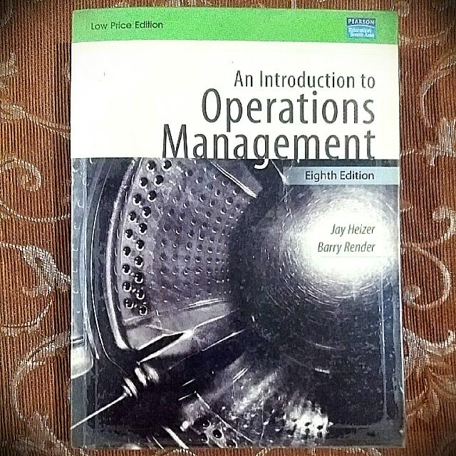 Operations Management, An Introduction - 8th Edition