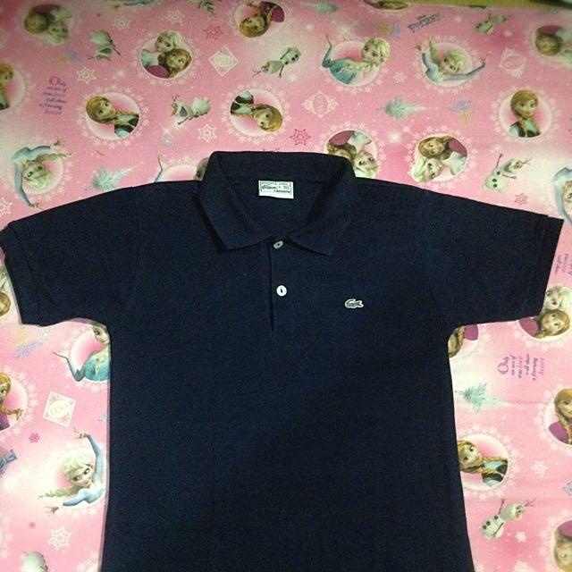 Orig Lacoste Navy Blue Polo Shirt