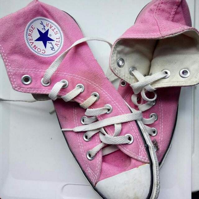 Pink Chuck Taylor High Tops 8.5 Women's