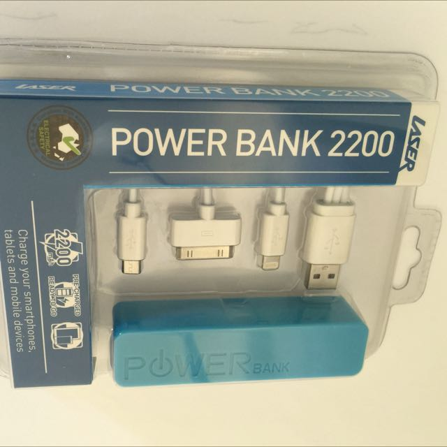 Power Bank With Cables