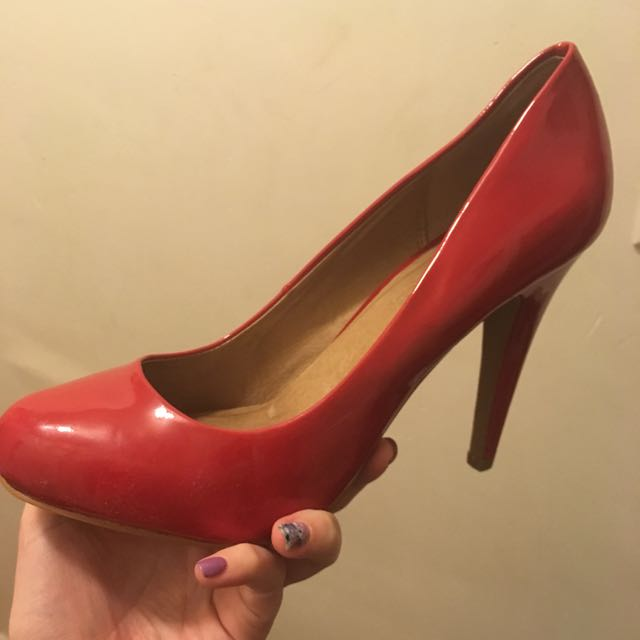Red Aldo Stilettos