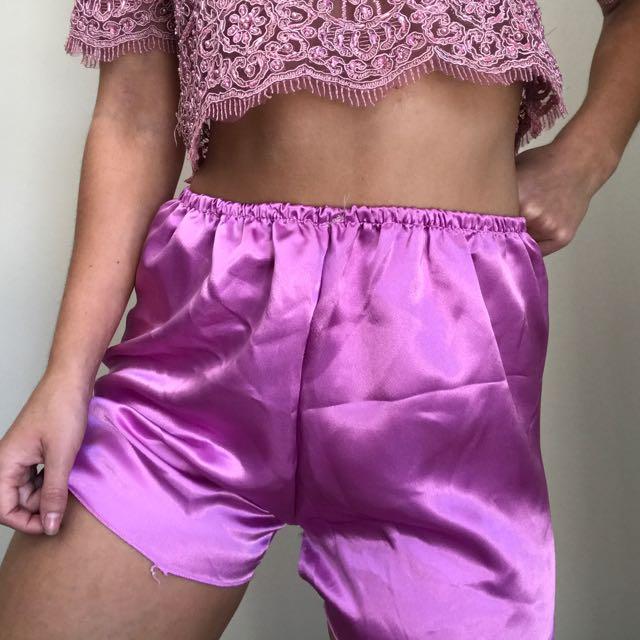 Silk Pink Shorts