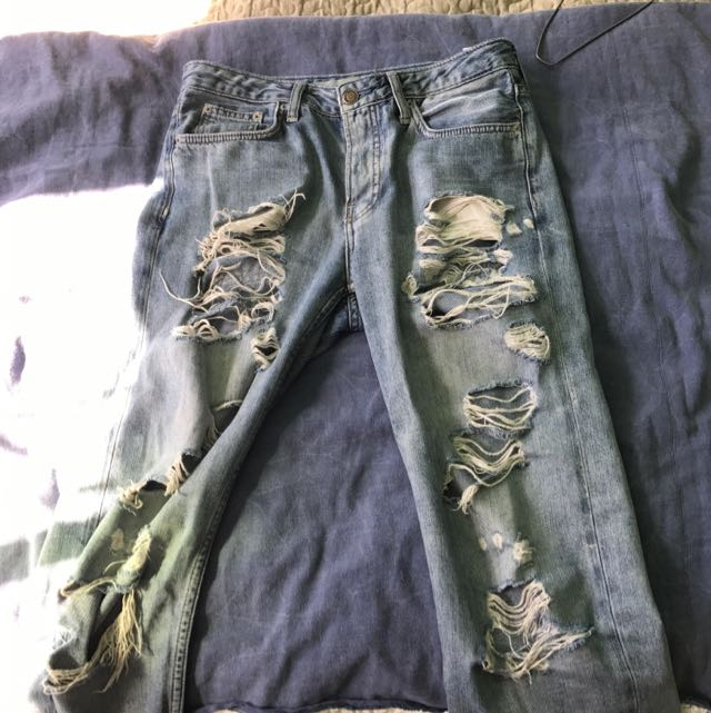 Topshop Moto Ripped Relaxed Jeans
