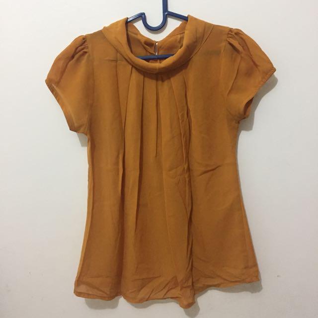 Twiscone Blouse - Yellow & Orange