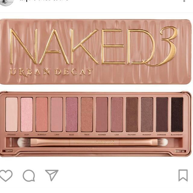 Authentic naked 3 palette $35