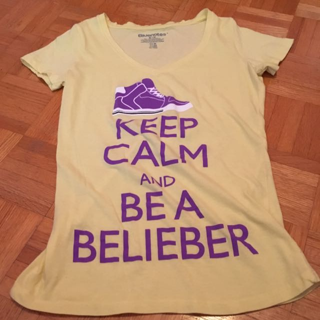 Yellow Justin Bieber shirt