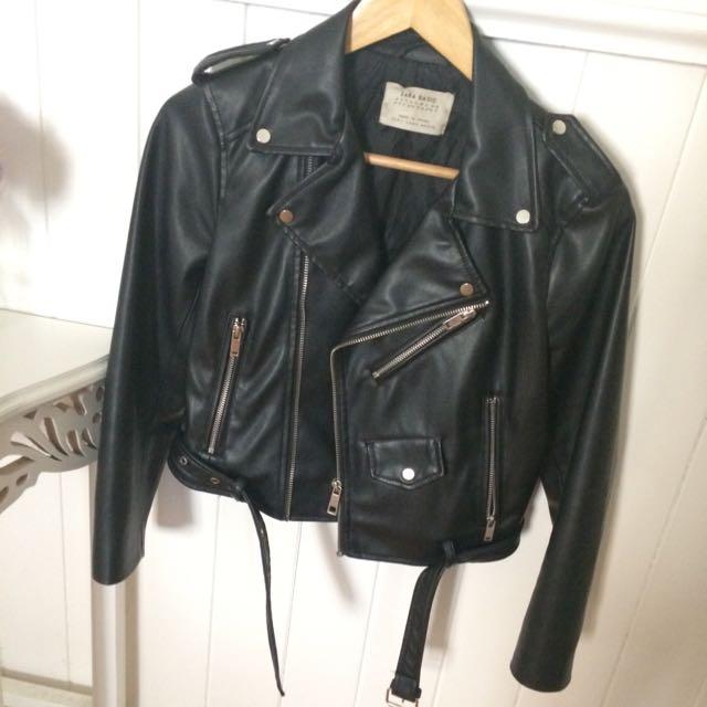 Zara Biker Leather Jacket