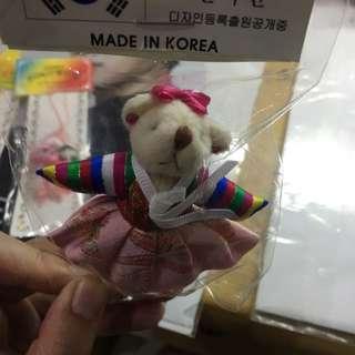 正韓 韓服小熊吊飾 超可愛