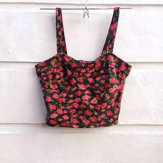Shana Floral Corset / Crop Top