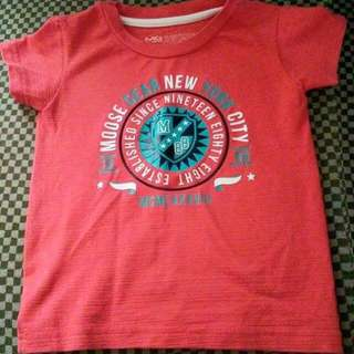 PRELOVED moose gear tshirt for you little prince.