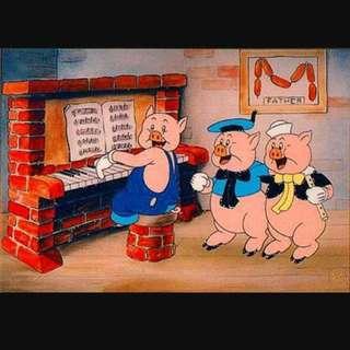 MZ::《徵物》迪士尼白雪公主👸三隻小豬🐷
