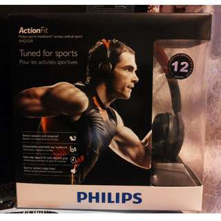 【全新 平讓】Philips 飛利浦運動耳機